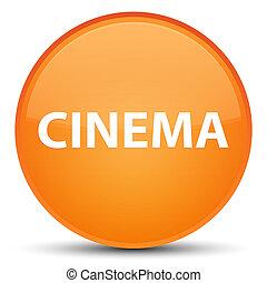 Cinema special orange round button