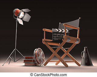 Cinema Spot - Objects of the film industry, the concept of...