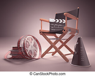 Cinema Studio - Objects of the film industry, the concept of...