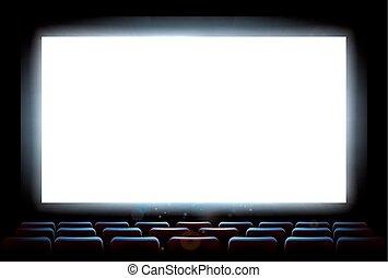 cinema, teatro filme, tela
