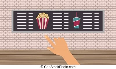 cinema theater related - cinema food store choise popcorn...