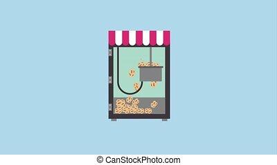 cinema theater related - cinema food store machine making...
