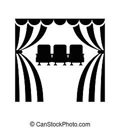 cinema theatre sits