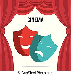 cinema theatrical mask entertainment icon