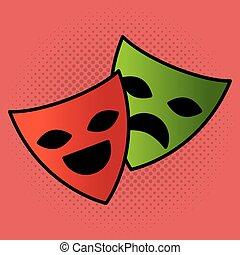 cinema theatrical mask entertainment icon
