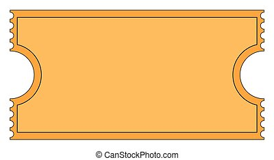 A cinema stub isolated on a white background
