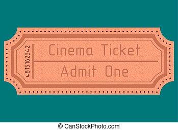Cinema ticket. Admit one. Vector il