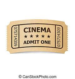 Cinema ticket. - Retro style cinema ticket isolated on...