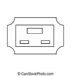 Cinema ticket icon, outline style