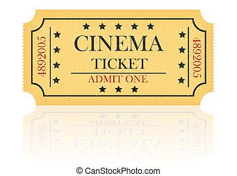 cinema ticket illustration isolated on white background