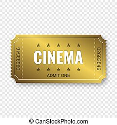 Cinema ticket . Template for your design