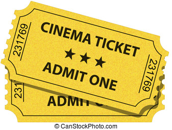 Cinema ticket - Vector illustration of cinema ticket