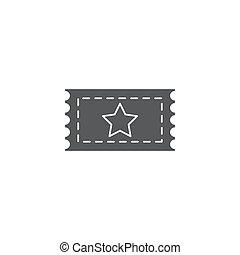 Cinema ticket vector icon isolated on white background.