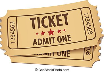 Cinema ticket. Vector illustration. Conceptual illustration...