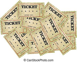 Cinema tickets -background, vector