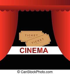 Cinema tickets background