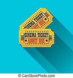 Cinema tickets flat design