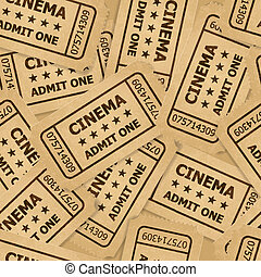 Cinema tickets. - Heap of cinema tickets in retro style....