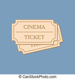 Cinema tickets icon, vector illustration