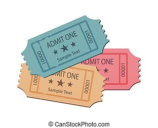 Cinema Tickets Set Soft Colors