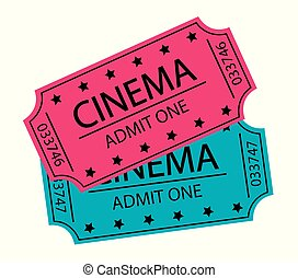 cinema tickets vector illustration