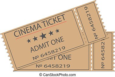 Cinema tickets with shadow