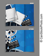 Cinema tri-fold brochure design - Cinema entertainment reel...