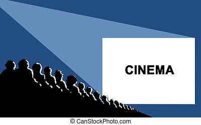 cinema, vector illustration