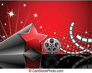 Cinema - Vector illustration of cinema background with film...