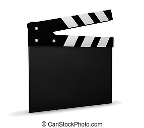 Cinema Video And Movie Blank Clapperboard - Cinema, video...