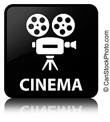 Cinema (video camera icon) black square button