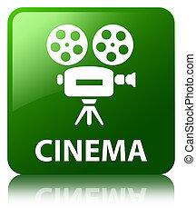 Cinema (video camera icon) green square button