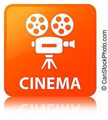 Cinema (video camera icon) orange square button
