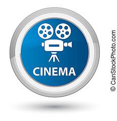 Cinema (video camera icon) prime blue round button