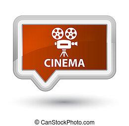 Cinema (video camera icon) prime brown banner button