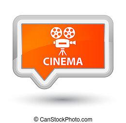 Cinema (video camera icon) prime orange banner button