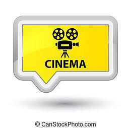 Cinema (video camera icon) prime yellow banner button