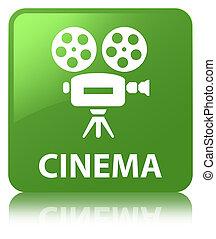 Cinema (video camera icon) soft green square button