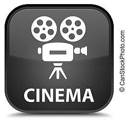 Cinema (video camera icon) special black square button