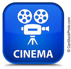 Cinema (video camera icon) special blue square button