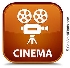 Cinema (video camera icon) special brown square button