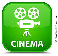 Cinema (video camera icon) special green square button