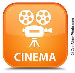 Cinema (video camera icon) special orange square button