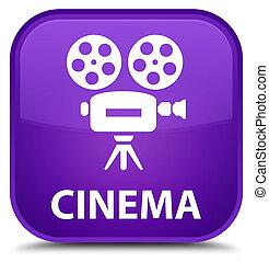 Cinema (video camera icon) special purple square button