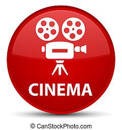 Cinema (video camera icon) special red round button