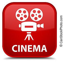 Cinema (video camera icon) special red square button