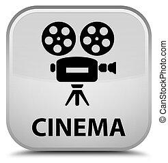 Cinema (video camera icon) special white square button