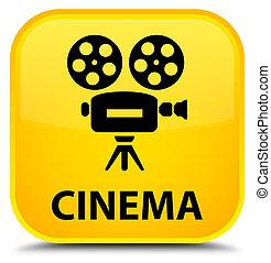Cinema (video camera icon) special yellow square button