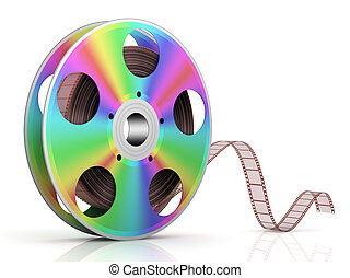 Cinema - Video CD . Conceptual 3d rendered illustration .