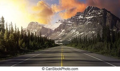Cinemagraph Continuous Loop Animation of Scenic Road in ...